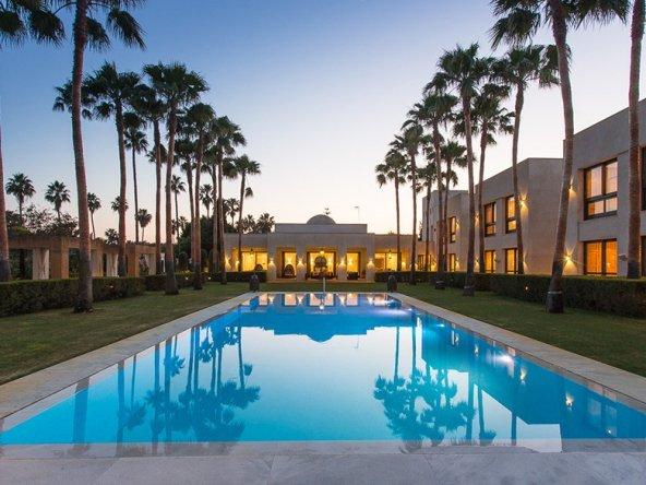 Villa & Pool Area